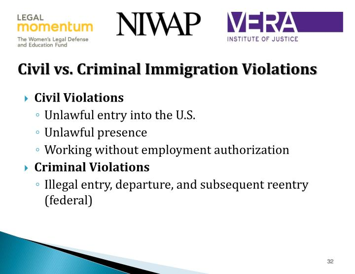Civil vs. Criminal Immigration Violations