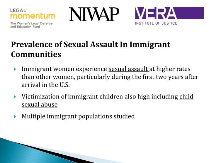 Prevalence of Sexual Assault In Immigrant Communities