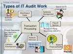 types of it audit work
