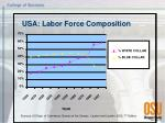 usa labor force composition