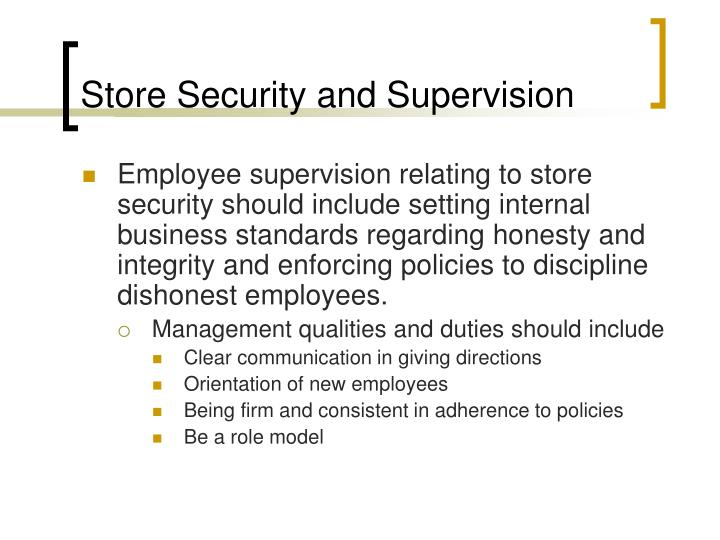 Store Security and Supervision