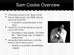 sam cooke overview