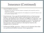 insurance continued