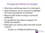 prosperity points to ponder