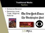traditional media tactics