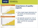 importance of quality exports
