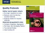 quality protocols