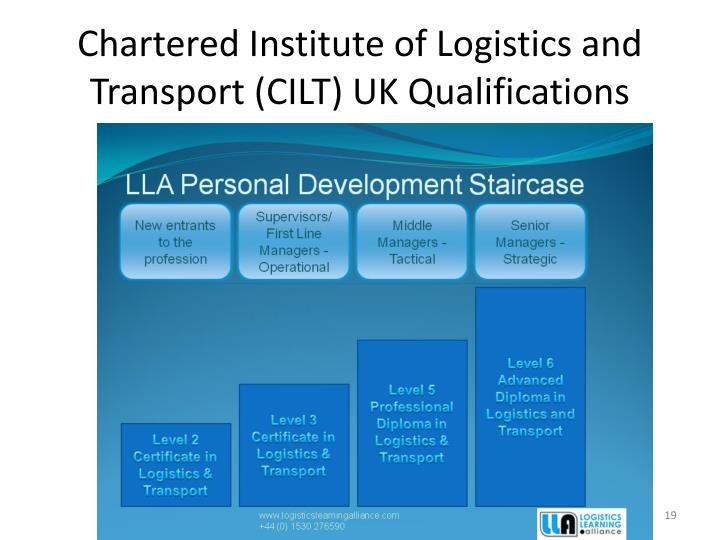 Chartered Institute of Logistics and Transport (CILT) UK Qualifications