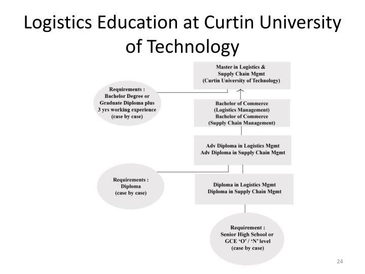 Logistics Education at Curtin University of Technology