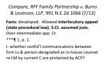 compare rff family partnership v burns levinson llp 991 n e 2d 1066 7 13