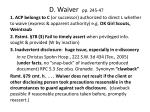 d waiver pp 245 47