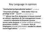 key language in opinion