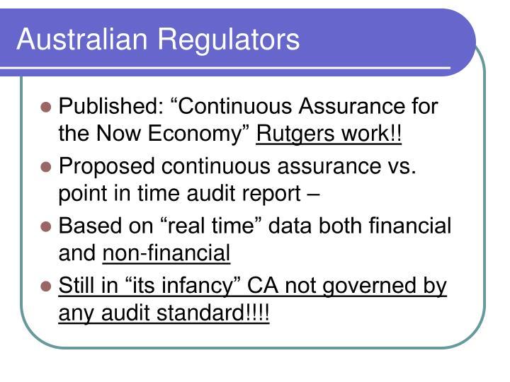 Australian Regulators
