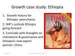growth case study ethiopia