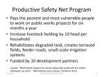 productive safety net program