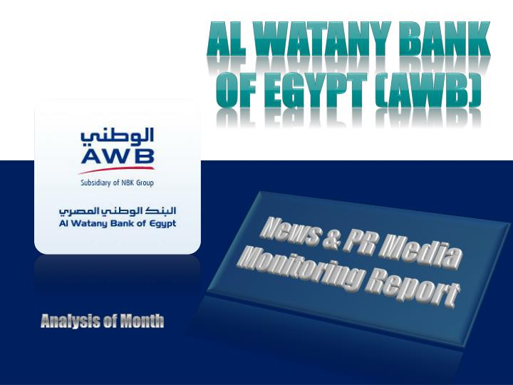 al watany bank of egypt awb n.