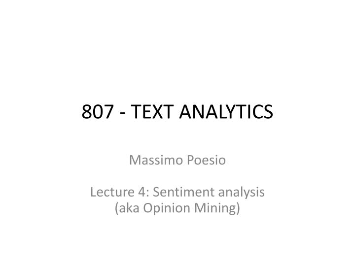 807 text analytics n.