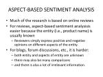aspect based sentiment analysis1