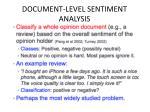 document level sentiment analysis1