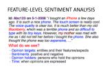 feature level sentiment analysis