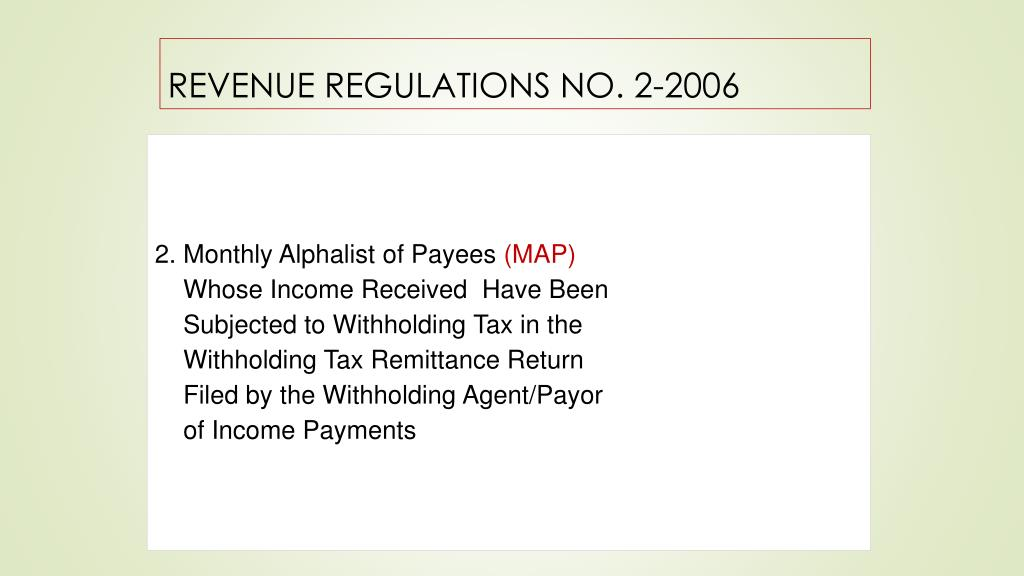 PPT - WITHHOLDING TAX ON GOVERNMENT MONEY PAYMENTS Presented
