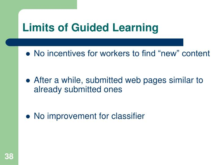 Limits of Guided Learning