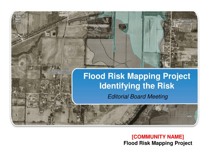 flood risk mapping project identifying the risk n.