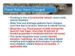 flood risks have changed