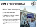 what is the bfc program