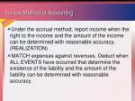 accrual method of accounting