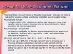 individual tax model gross income exclusions