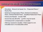 individual tax model special income inclusions
