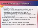 itemized deductions personal losses