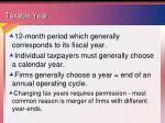 taxable year