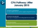 cpa pathway after january 2015