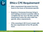 ethics cpe requirement