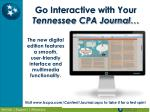 go interactive with your tennessee cpa journal