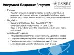 integrated response program