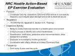 nrc hostile action based ep exercise evaluation