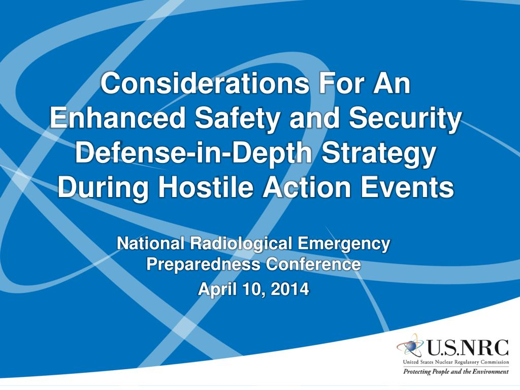 Ppt Considerations For An Enhanced Safety And Security Defense