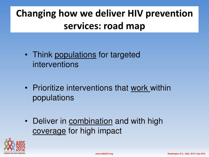 Changing how we deliver HIV