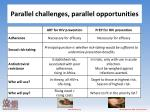 parallel challenges parallel opportunities