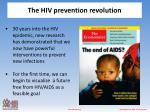 the hiv prevention revolution