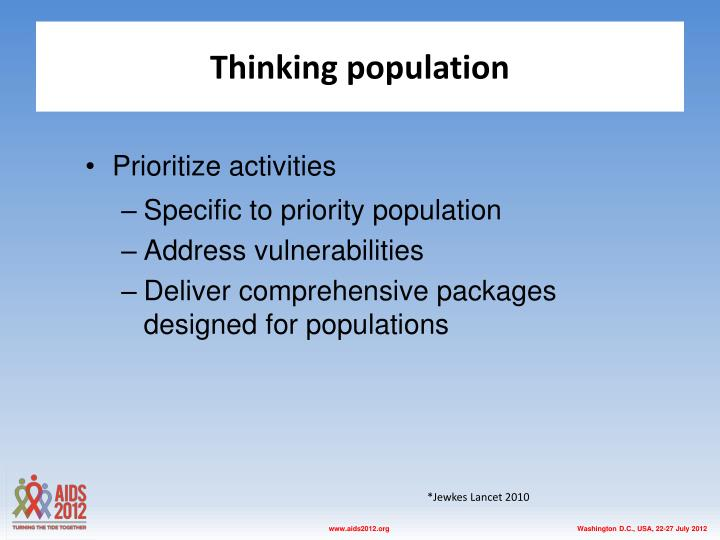 Thinking population