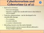 cyberterrorism and cybercrime 2 of 2
