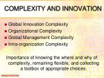 complexity and innovation