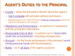agent s duties to the principal