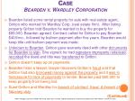 case bearden v wardley corporation