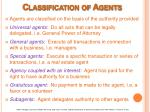 classification of agents