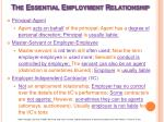 the essential employment relationship